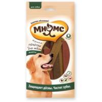Фотография товара Мясные полоски для собак Мнямс Ассорти, 123 г, злаки, мясо