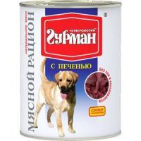 Фотография товара Корм для собак Четвероногий гурман мясной рацион, 850 г, печень