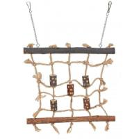 Фотография товара Игрушка для птиц Trixie Rope Climbing Wall, размер 27х24см.