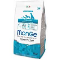 Фотография товара Корм для собак Monge Dog Speciality Hypoallergenic, 2.5 кг, лосось с тунцом