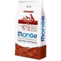 Фотография товара Корм для собак Monge Dog Speciality, 12 кг, ягненок с рисом и картофелем