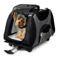 Фотография товара Сумка-переноска на колесах для собак и кошек Triol, размер 67.5x66x43.5см.