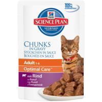 Фотография товара Влажный корм для кошек Hill's Adult Optimal Care, 85 г, говядина