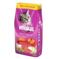 Фотография товара Сухой корм для кошек Whiskas Паштет, 1.9 кг, говядина с ягненком и кроликом