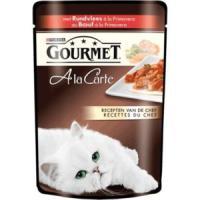 Фотография товара Влажный корм для кошек Gourmet A la Carte, 85 г, Говядина с Морковью, Томатом и Цукини