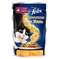 Фотография товара Влажный корм для кошек Felix Sensations, 85 г, утка со шпинатом