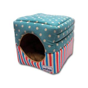 Домик для маленьких собак Katsu, размер 30х30х16см., голубой