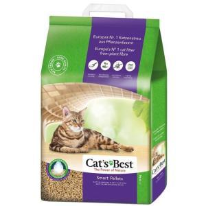 Древесный наполнитель премиум класса Cat's Best Smart Pellets, 10 кг