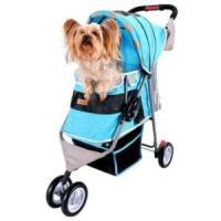 Фотография товара Коляска для собак и кошек Ibiyaya Pet Buggy, 5.8 кг, размер 80х90х32см., голубой