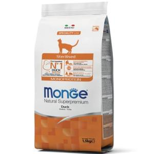 Корм для кошек Monge Cat Sterilised Duck, 1.583 кг, утка