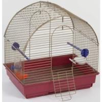 Фотография товара Клетка для птиц Велес Lusy Mini, 1 кг, размер 30х42х40см., золото