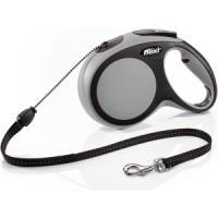 Фотография товара Поводок-рулетка для собак Flexi New Comfort M Cord, серый