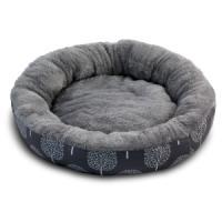 Фотография товара Лежак для собак Triol Сказочный лес M, размер 63х63х11см., серый