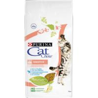 Фотография товара Purina Cat Chow Sensitive корм для кошек, 15 кг, домашняя птица с лососем