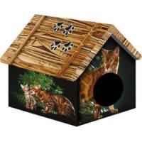 Фотография товара Домик для собак и кошек PerseiLine Бенгальский кот, размер 33х30х40см.