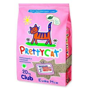 Наполнитель для кошачьего туалета Pretty Cat Euro Mix, 20 кг