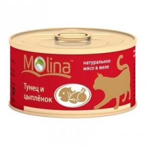 Корм для кошек Molina, 80 г, тунец с цыпленком