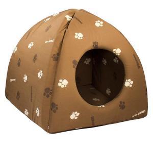 Домик для кошек и собак Дарэлл ЮРТА M, размер 42х42х41см., коричневый