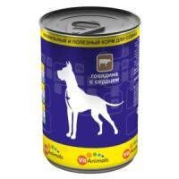 Фотография товара Корм для собак VitAnimals, 410 г, говядина с сердцем