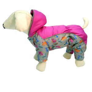Комбинезон для собак Osso Fashion, размер 22, серый/фуксия