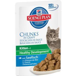 Влажный корм для котят Hill's Kitten Healthy Development, 85 г, океаническая рыба