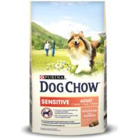 Фотография товара Корм для собак Purina Dog Chow Sensitive Adult, 14 кг, лосось, рис