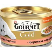 Фотография товара Корм для кошек Gourmet Gold, 85 г, форель с овощами