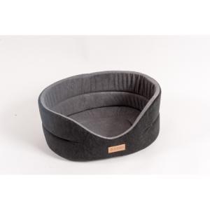 Лежанка для собак Katsu Suedine XS, размер 40х35х16см., черный/красный