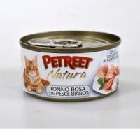 Фотография товара Консервы для кошек Petreet Natura, 70 г, розовый тунец с рыбой дорада