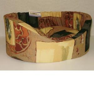 Лежак для собак Бобровый дворик, размер 1, размер 42х35х16см., цвета в ассортименте