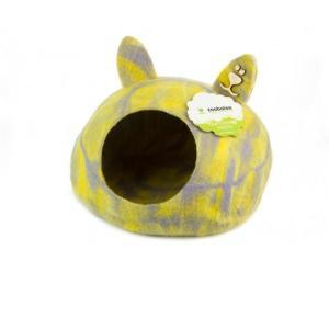 Домик для животных Zoobaloo Уютное гнездышко, размер 40х40х20см., мультиколор желтый