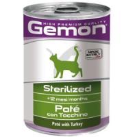 Фотография товара Корм для кошек Gemon Cat Sterilised, 400 г, индейка