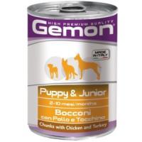 Фотография товара Корм для щенков Gemon Dog Puppy & Junior, 400 г, курица с индейкой