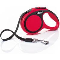 Фотография товара Поводок-рулетка для собак Flexi New Comfort XS Tape, красный