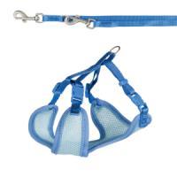 Фотография товара Шлейка-жилетка с поводком для щенка Trixie Puppy Soft Harness with Leash, синий