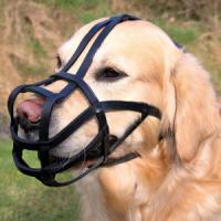 Фотография товара Намордник для собак Trixie Bridle Leather M, черный