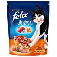 Фотография товара Корм для кошек Felix Двойная вкуснятина, 300 г, птица