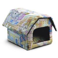 Фотография товара Домик для собак и кошек Гамма Дг-06111, размер 36х40х36см., цвета в ассортименте