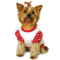 Фотография товара Футболка для собак Triol Minnie XS, 76 г, размер 19см., красный с белым