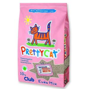 Наполнитель для кошачьего туалета Pretty Cat Euro Mix, 10 кг