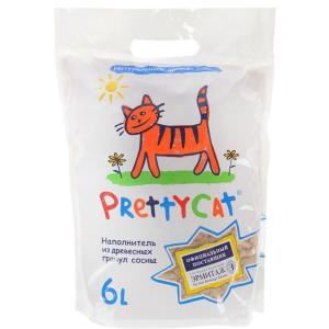 Наполнитель для кошачьего туалета Pretty Cat Wood Granules, 2 кг
