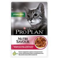 Фотография товара Корм для кошек Pro Plan Nutrisavour Sterilised, 85 г, утка