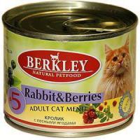Фотография товара Корм для кошек Berkley Adult Cat, 200 г, кролик с лесными ягодами