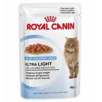 Фотография товара Влажный корм для кошек Royal Canin Ultra Light Jelly, 85 г, кусочки в желе