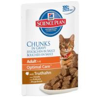 Фотография товара Влажный корм для кошек Hill's Adult Optimal Care, 85 г, индейка