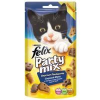Фотография товара Лакомство для кошек Felix Party Mix, 20 г, Сырный Микс: Чеддер, Гауда, Эдам
