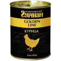 Фотография товара Консервы для собак Четвероногий гурман Golden Line, 340 г, курица в желе