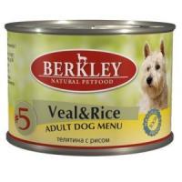 Фотография товара Влажный корм для собак Berkley, 200 г, телятина с рисом
