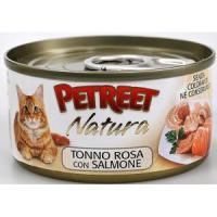 Фотография товара Консервы для кошек Petreet Natura, 70 г, куриная грудка с лососем