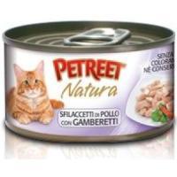 Фотография товара Консервы для кошек Petreet Natura, 70 г, куриная грудка с креветками